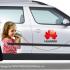 Huawei - návrh grafiky pro firemní vozidla