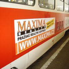 MAXIMA REALITY - polepy tramvají