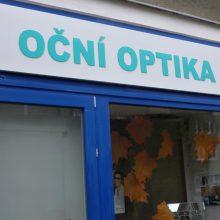 Oční klinika Horní Počernice - vývěsní štíty