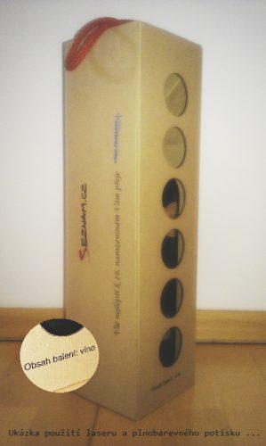 krabice na víno - tvarové ořezy